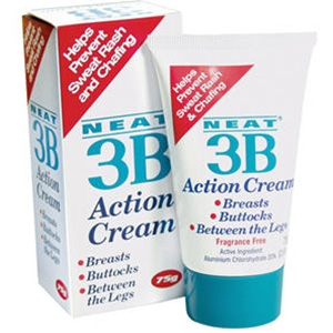3B Action Cream The solution to Sweat Rash and Chafing