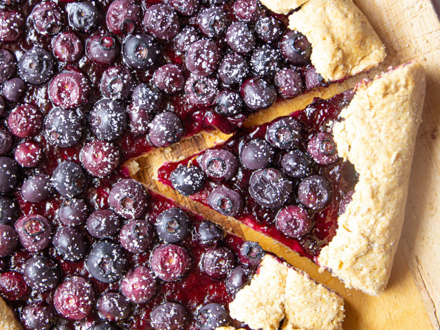 Blackcurrant Conserve and Blueberry Galette