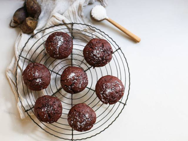 Choc Beetroot Maple Muffins