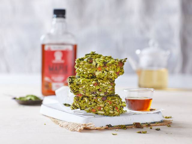 Matcha Maple Muesli Bars