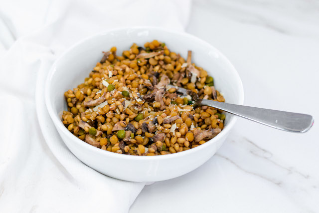 Mushroom Risotto With Grains & Legumes
