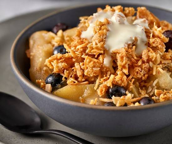 McKenzie's Apple and Blueberry Coconut Crumble