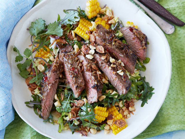 Asian Slaw Salad with Marinated Beef