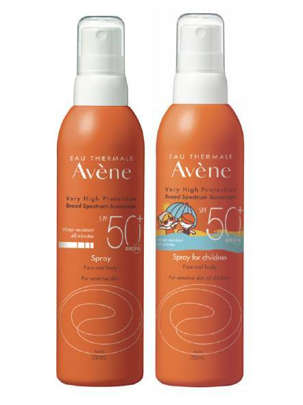 Avéne SPF 50+ Sunscreen Sprays