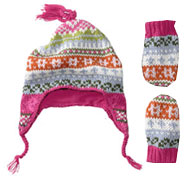 Baby Gap Fair Isle Crazy Hat & Mittens