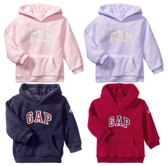 Baby Gap Pro Fleece Logo Hooded Sweater
