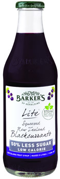 Barker's of Geraldine's Squeezed NZ Blackcurrants Fruit Syrup