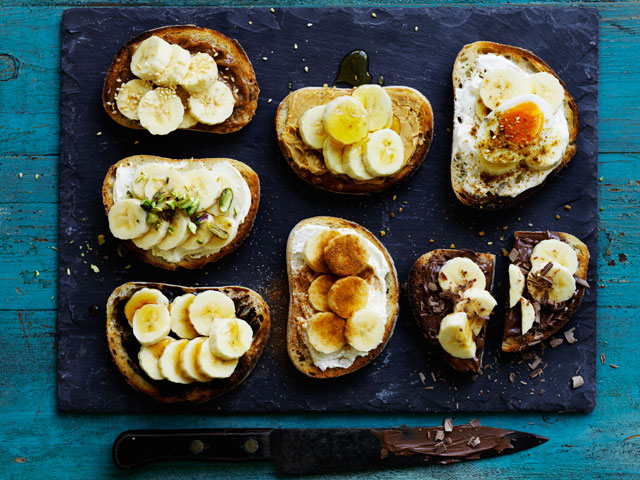 Banana Breakfast Bruschetta