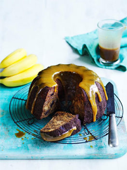 Sticky Date and Banana Cake with Salted Butterscotch Sauce
