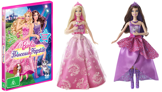 Barbie The Princess and The Popstar Dolls & DVDs