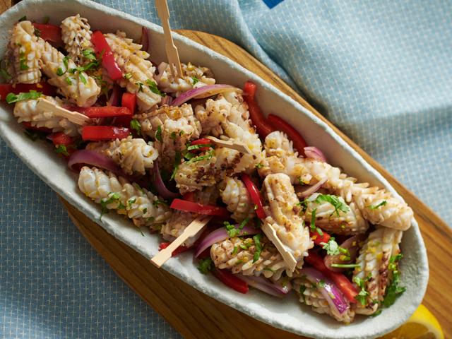 BBQ Marinated Calamari