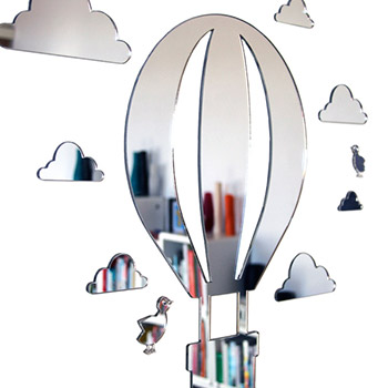Shatterproof Hot Air Balloon Mirror Set