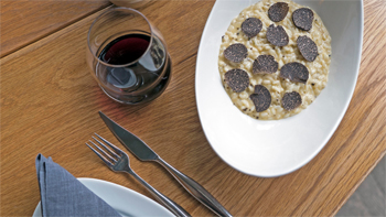 Risotto with Black Truffle by Stefano Manfredi