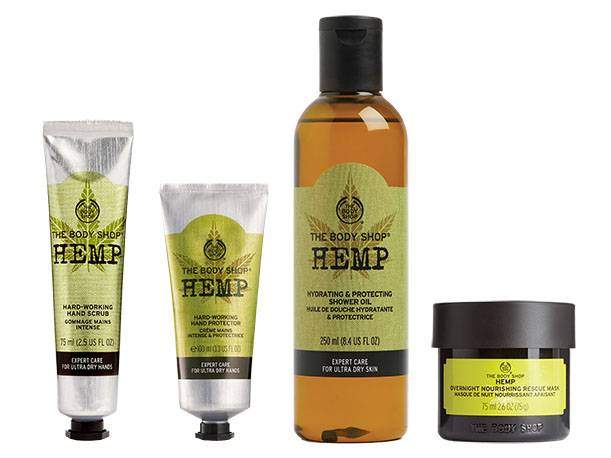 The Body Shop Hemp Range