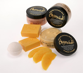 Charmed Beauty Products, Soaps, Body Butter, Bath Crystals,