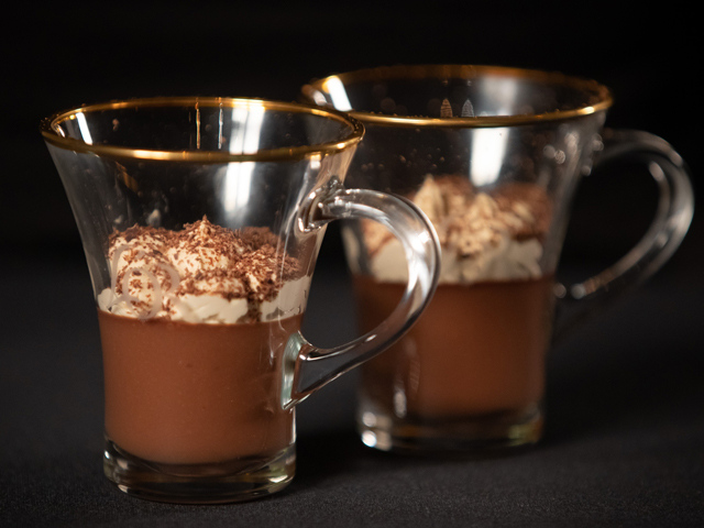 Chocolate and Coffee Mousse Pots
