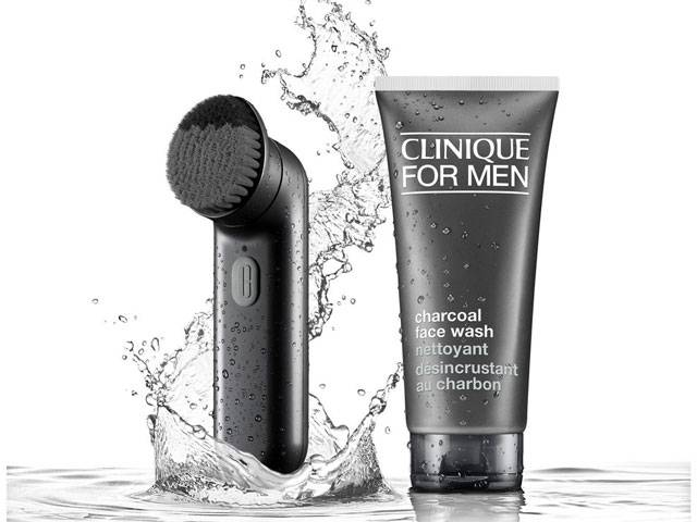 Clinique for Men Sonic System Deep Cleansing Brush and Charcoal Face Wash