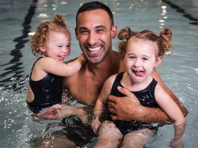 Dads Take The Lead As 'Swimming Parent'