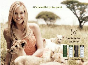 David Babaii & Kate Hudson Wildaid Haircare