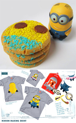 Despicable Me with Mrs. Fields cookies voucher