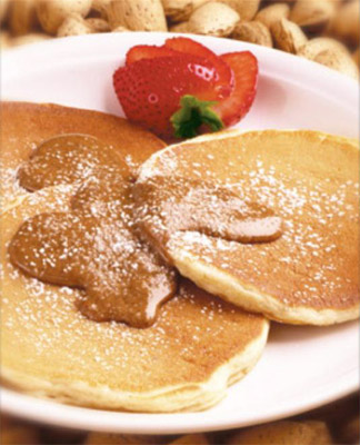 Diabetic Wholemeal Pancakes with Strawberries
