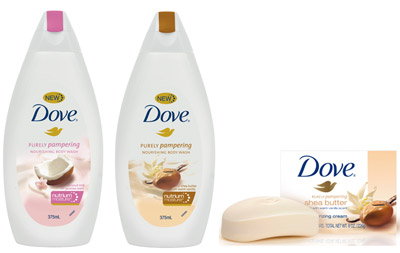 Dove Purely Pampering Range