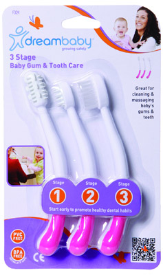 Dreambaby Three Stage Baby Gum & Tooth Care Set