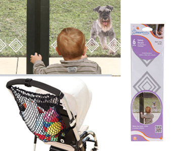 Dreambaby Sliding Glass Door Safety Decals and Stroller Bag