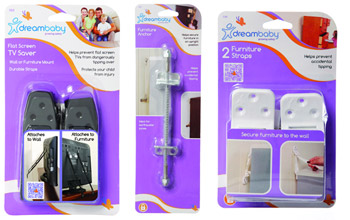 Dreambaby Furniture Straps, Anchors and Flat Screen TV Saver