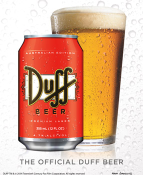 The Official Duff Beer is coming to Australia