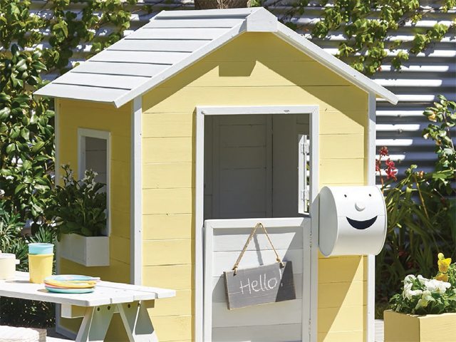 Kids' Cubby House Painting Project