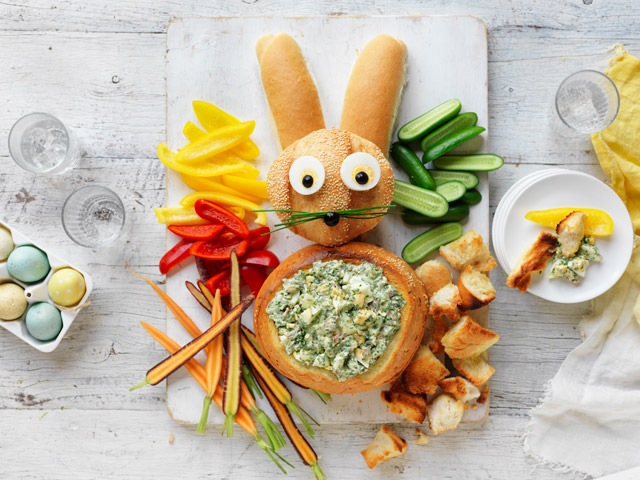 Easter Bunny Cob with Egg Salad