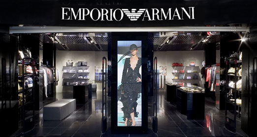 Emporio armani and burberry store sydney airport for Armani store nyc