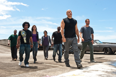 Vin Diesel, Paul Walker, Dwayne Johnson Fast Five