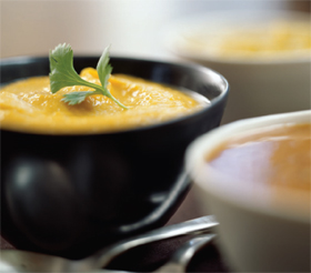 Pumpkin and Green Curry Soup