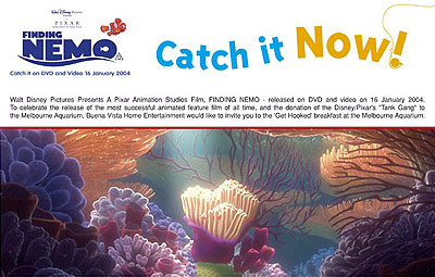 Find Nemo and the Tank Gang at the Melbourne Aquarium