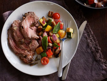 French Butterflied Lamb Leg with Ratatouille