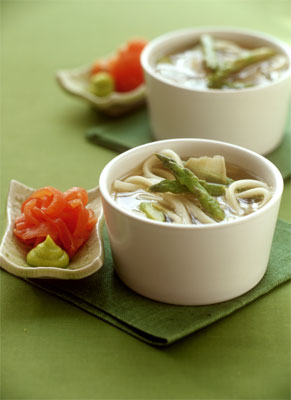 Chinese Chicken Noodle Soup & Gingered Vegetable Soup