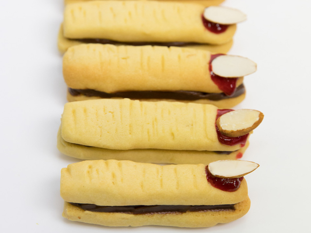 Ghoulish Shortbread Fingers
