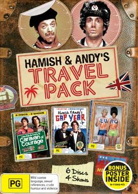 Hamish & Andy's Travel Pack DVDs
