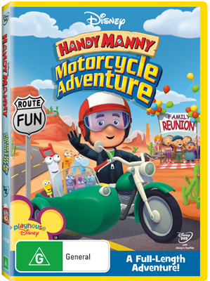 LEAP FROG . HANDY MANNY . MOTORCYCLE ADVENTURE . HC . 2009