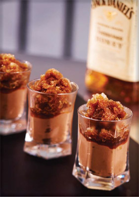Jack Daniel's Tennessee Honey Snow with Chocolate and Banana Cream