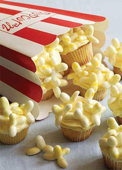 Jelly Belly Movie Popcorn Cupcakes