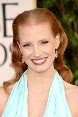 Jessica Chastain Wins the 2013 Golden Globes Award for Best Actress