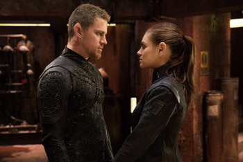 Mila Kunis and Channing Tatum Jupiter Ascending