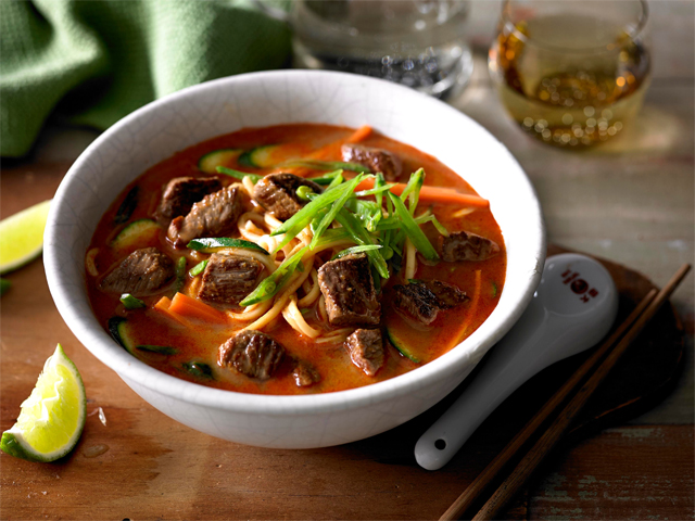 Lamb and Vegetable Laksa with Hokkien Noodles