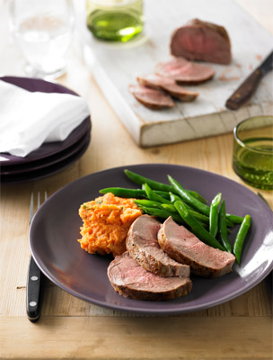 Lamb Mini Roast with Sweet Potato Mash