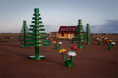 LEGO Forest pops up in the Australian Outback
