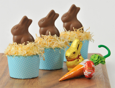 Lindt Easter Carrot Cupcakes