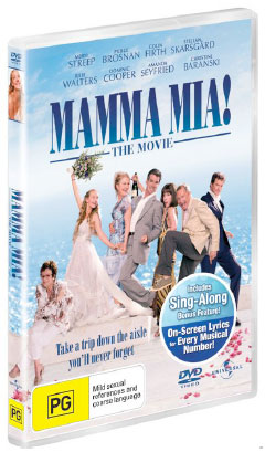 Mamma Mia DVD Pack Giveaway